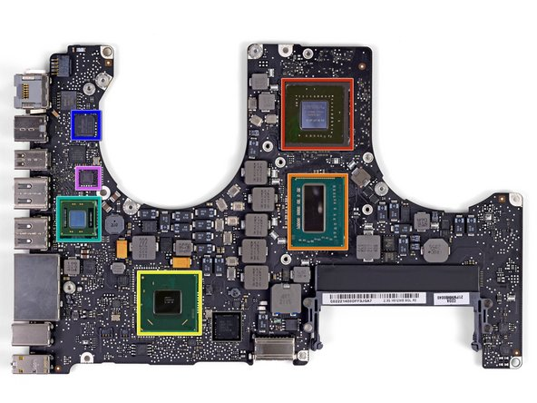 Front side of the logic board: