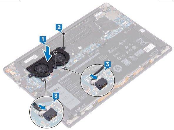 Replacement of fans on the Dell XPS 13 9380