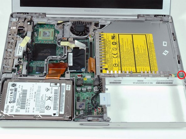 "PowerBook G4 Aluminum 12"" 1-1.5 GHz Fan Replacement"