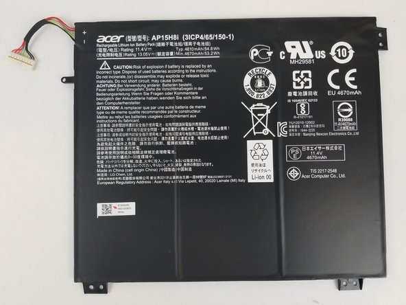Acer Aspire One Cloudbook 14 AO1-431-C8G8 Battery Replacement