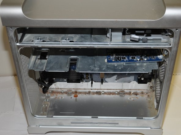 The bottom of the computer should look like this when removal of the power supply is complete.