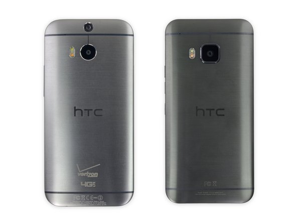 The dual-tone metal unibody of the M9 is practically identical to that of the M8. The gunmetal gray M9 is just a shade darker than its older sibling; otherwise, you might say these HTCs are twins! Well, almost...