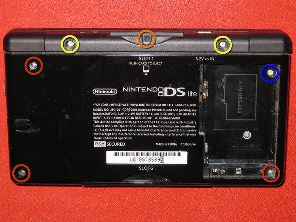 Disassembling Nintendo DS Lite Bottom Case