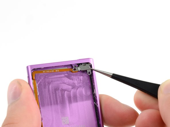 Remove the bracket with a pair of tweezers.