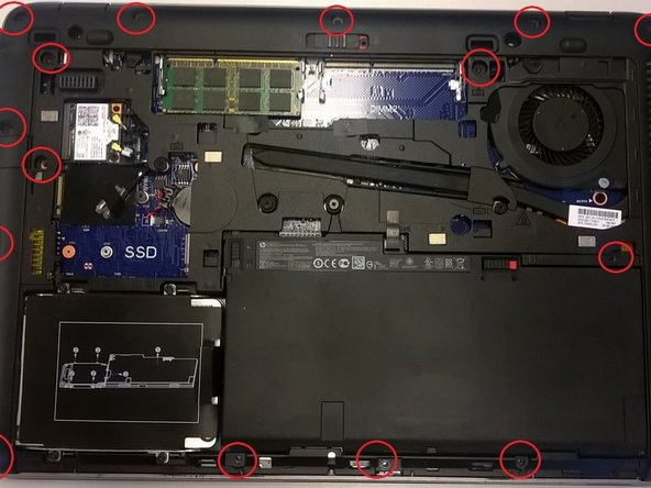 There is also a screw in the bottom right corner, which isn't pictured.