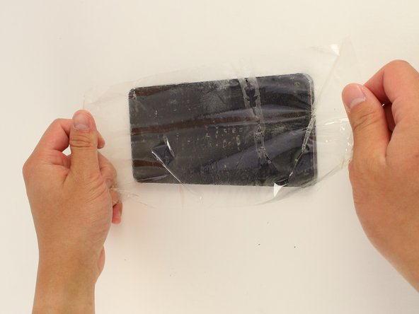 If your display glass is cracked, take precaution by taping over the display to prevent further breakage and harm.