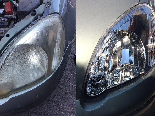 Toyota Yaris (Echo) 1999-2005 headlight optical unit remplacement