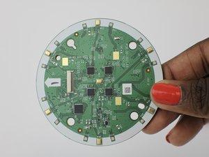 LED/Lautsprecherplatine und Mikrofon