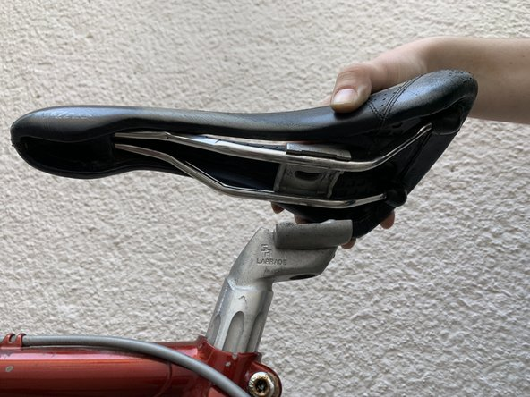 Remove the seat from the clamp.