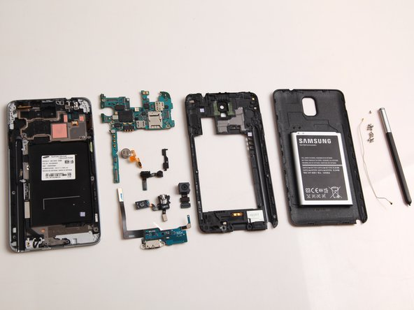 The Samsung Galaxy Note 3 teardown is complete.