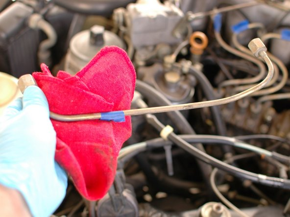 Mercedes W123 Fuel Injector Hard Line Replacement
