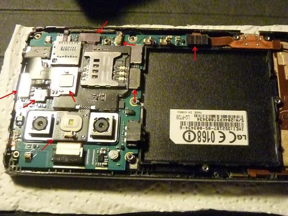 We got to the SIM and SD card board and the motherboard.