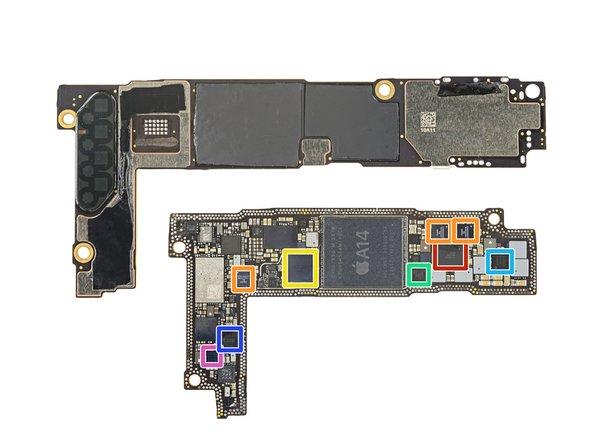 Processor PCB IC identification continued: