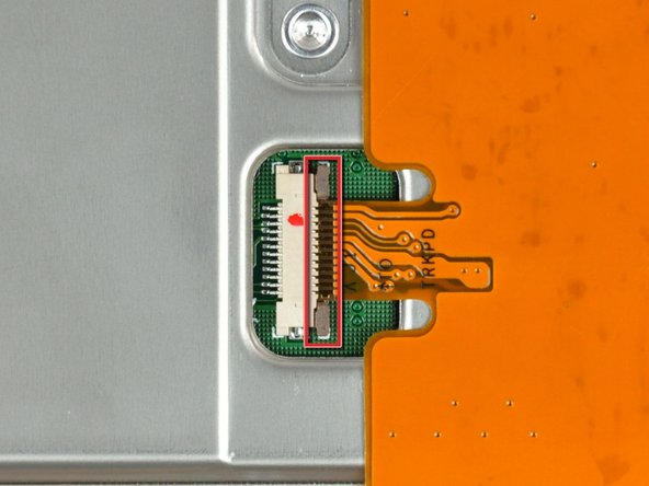 Use your fingernails or the tip of a spudger to separate the ZIF cable lock from its socket.