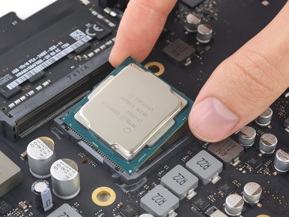 iMac Intel 21.5インチ Retina 4K Display (2017) CPUの交換