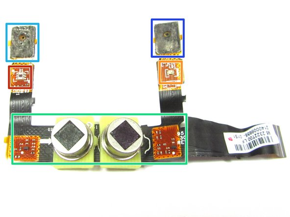 With the Metal Shield Tape removed and the Foam Tape scraped off, the components on Flex PCB can be reviewed