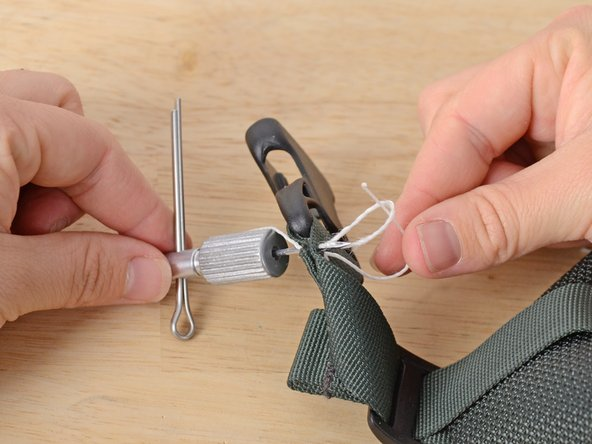When you come to the end of your material, take one last stitch.
