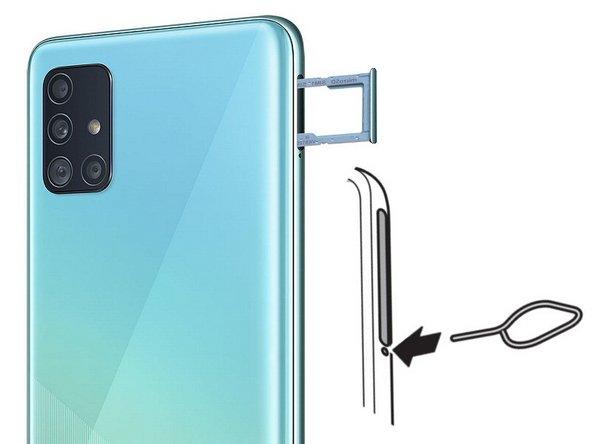 Éteignez votre téléphone et éjectez votre carte Sim à l'aide de l'éjecteur Samsung.