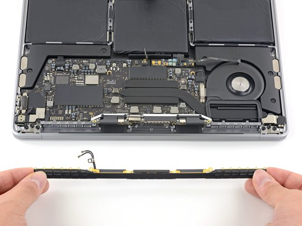 Remove the antenna cable assembly.