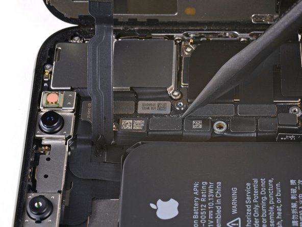 Use a spudger or a fingernail to pry up and disconnect the front panel sensor assembly connector.