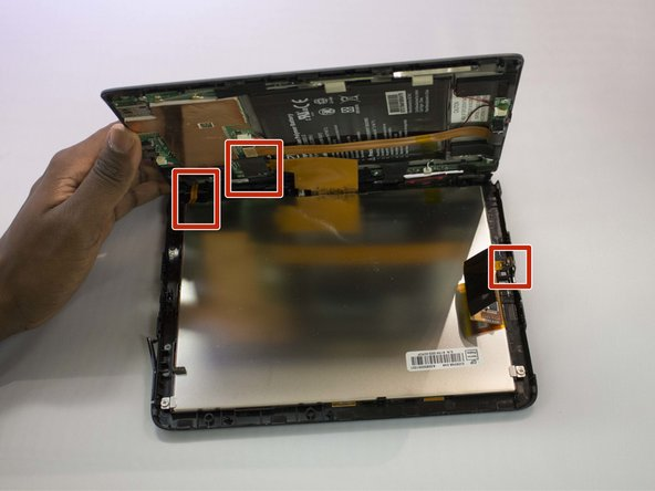 Look into the tablet for loose connectors.