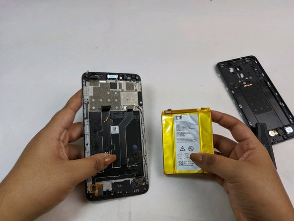 The LCD and its frame are now free to be replaced with a new component.