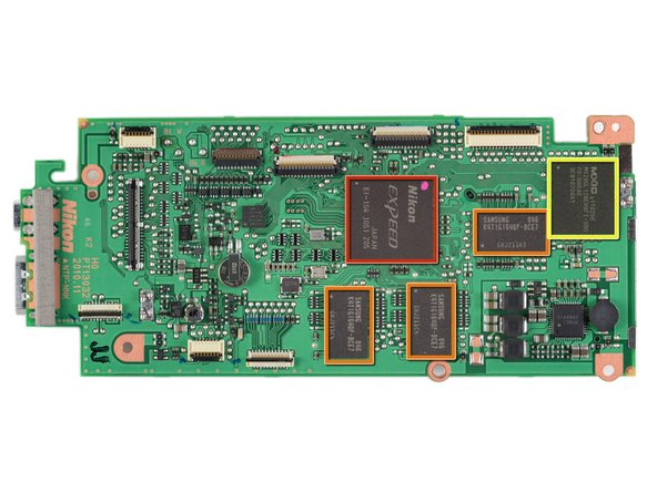 Front view of the motherboard. (High-res version of the motherboard, click here):