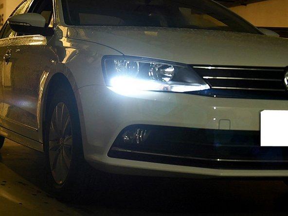 Install iJDMTOY Volkswagen Jetta LED Daytime Running Light LED Daytime Running Lights