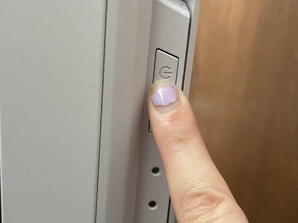 Recycle the power in the computer by pressing the power button on and off again. This removes any remaining current to the computer.