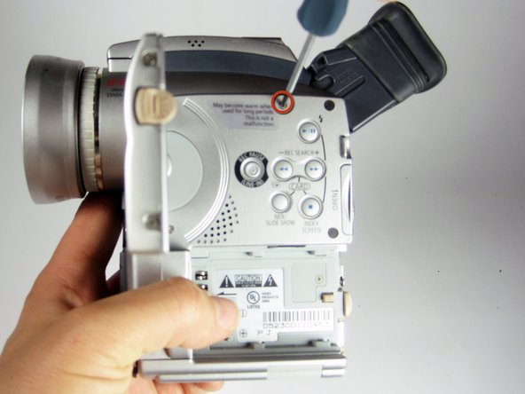Open the LCD by using the release switch.