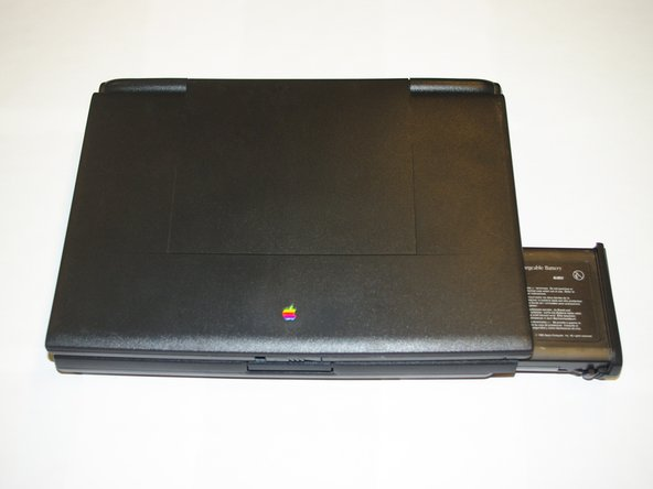 Position the Powerbook towards you with the monitor closed.