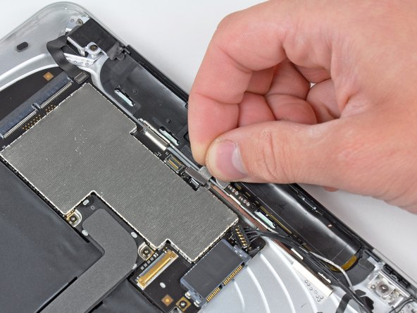 Pull the GPS antenna ribbon cable out of its socket.