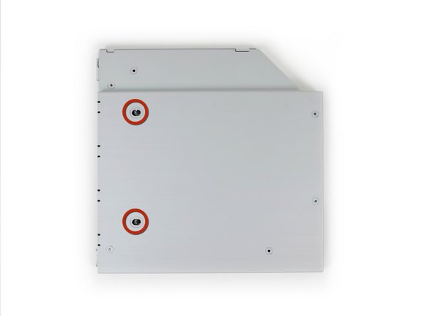 Use two Phillips #1 screws to secure the drive to its enclosure.