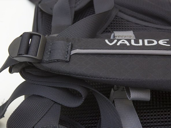 How do I replace a sternum strap on my backpack?