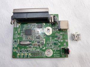 Temporary repairing Western Digital Essentials HD de-soldered USB connector