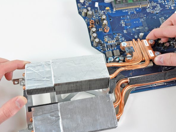 Remove the CPU heat sink from the logic board.