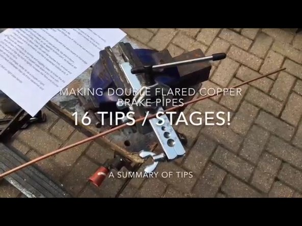 How to Make Brake Pipes - lots of tips!