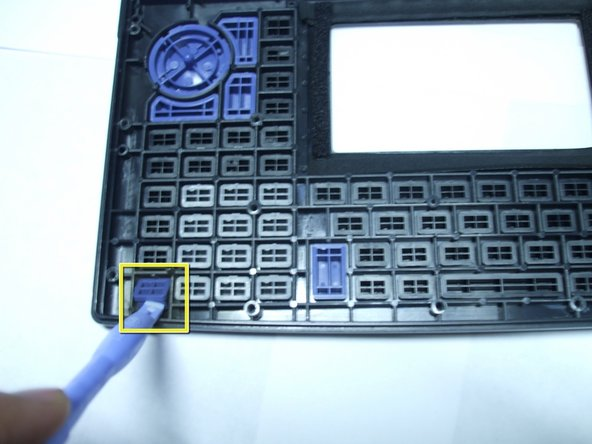 With the rubber contact removed the keys can now be removed to be replaced, cleaned, or manipulated in other ways.