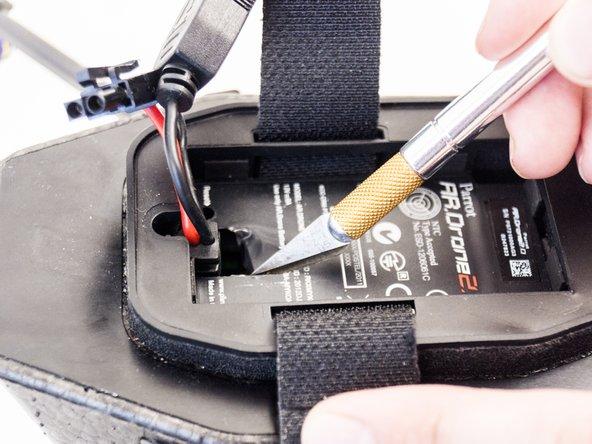 Avoid using sharp tools near the battery.