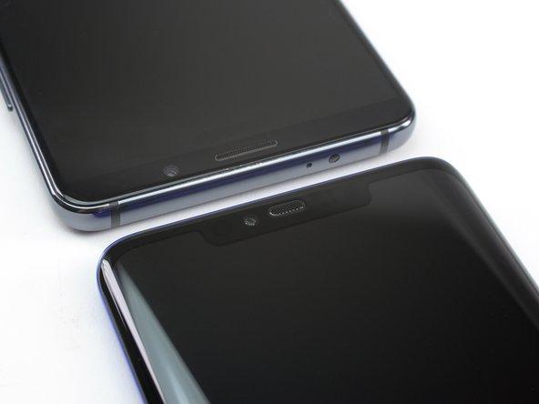 Face à face avec le champion de Huawei de la saison dernière, le Mate 20 Pro révèle un nouvel écran encoché et incurvé.