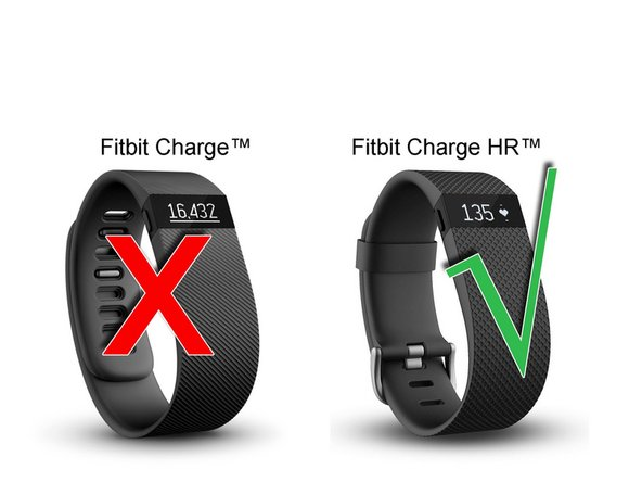 This repair only works on the Fitbit Charge HR model, not the older Charge without heart rate. The batteries are different.