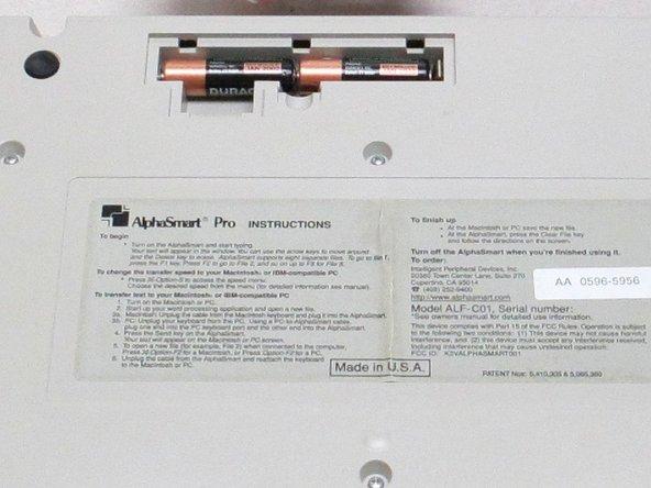 AlphaSmart Pro Batteries Replacement