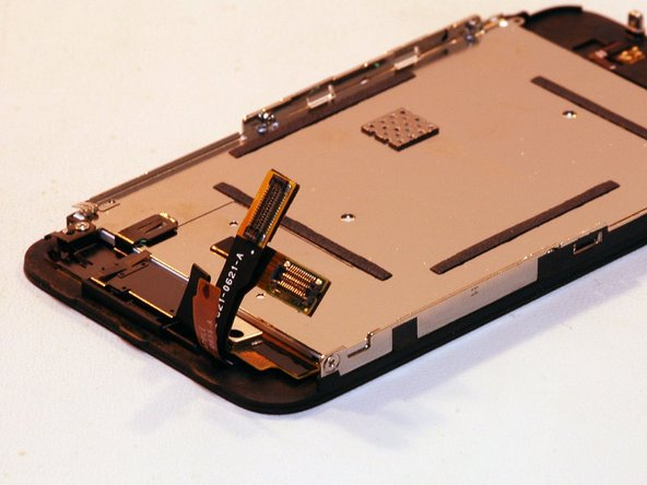 The display assembly separated from the unit.