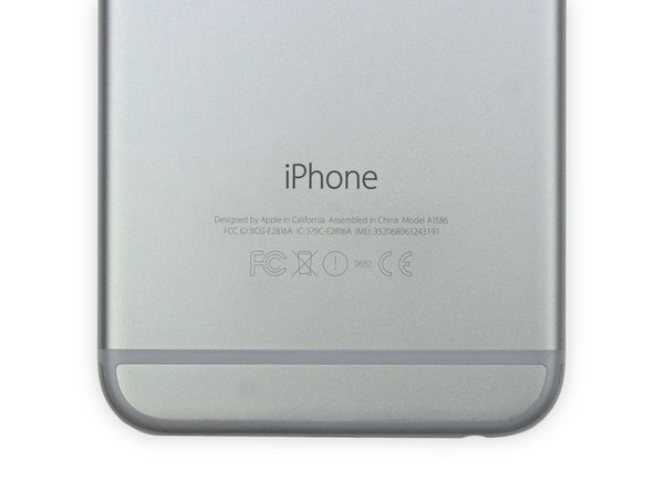 Apple has decided to brand this particular iPhone 6 as model A1586.