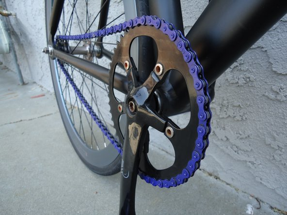 Bicycle chainring replacement