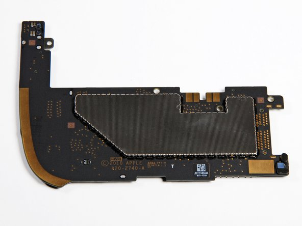 Top and bottom of logic board with the EMI shield on.
