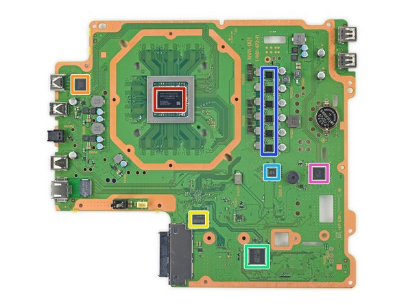 Let's take a closer look at the front side of the motherboard: