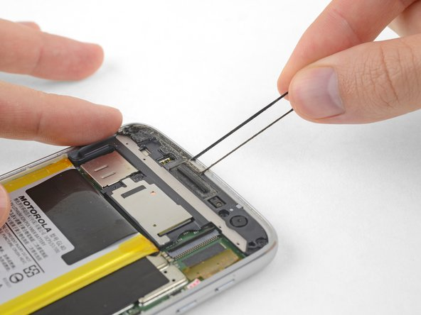 Peel away and remove all the old display adhesive from the body of your phone.