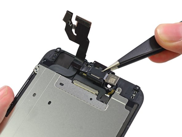 Much like the iPhone 6 Plus, the front-facing camera and earpiece speaker reside on the front panel assembly.