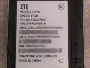 ZTE Quartz Z797C Repair